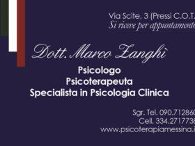 Dott. Marco Zanghì Psicologo Psicoterapeuta Messina